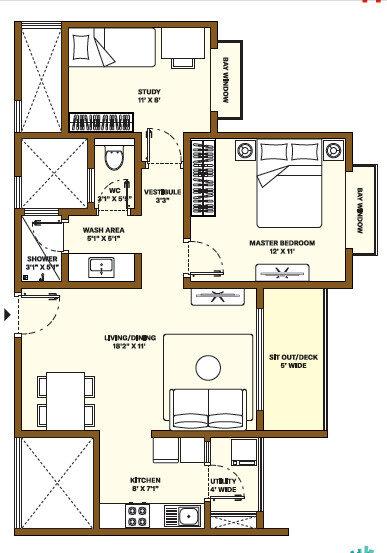 Nikoo Homes Phase 4 1.5 BHK Apartment