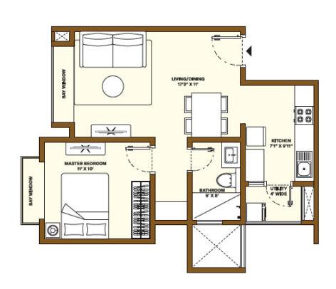 Nikoo Homes Phase 4 1BHK Apartment
