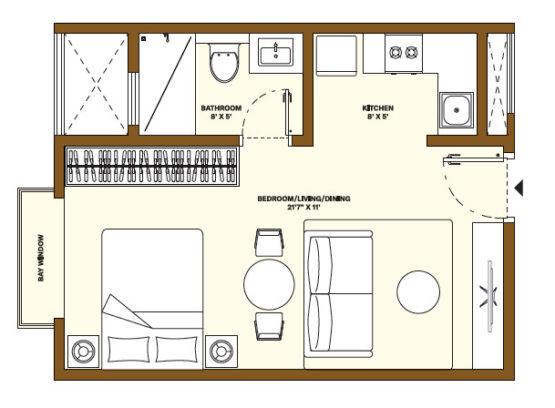 Nikoo Homes Phase 4 Studio Apartment