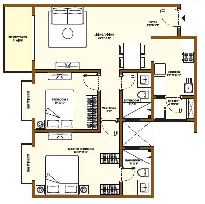 Nikoo Homes Phase 4 2 BHK Apartment